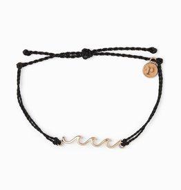 Puravida Pura Vida - Charm Bracelet Delicate Wave - Black