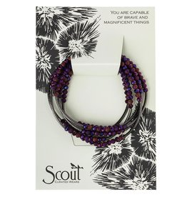 Scout Curated Wears - Scout Wrap  - Dahlia/hematite