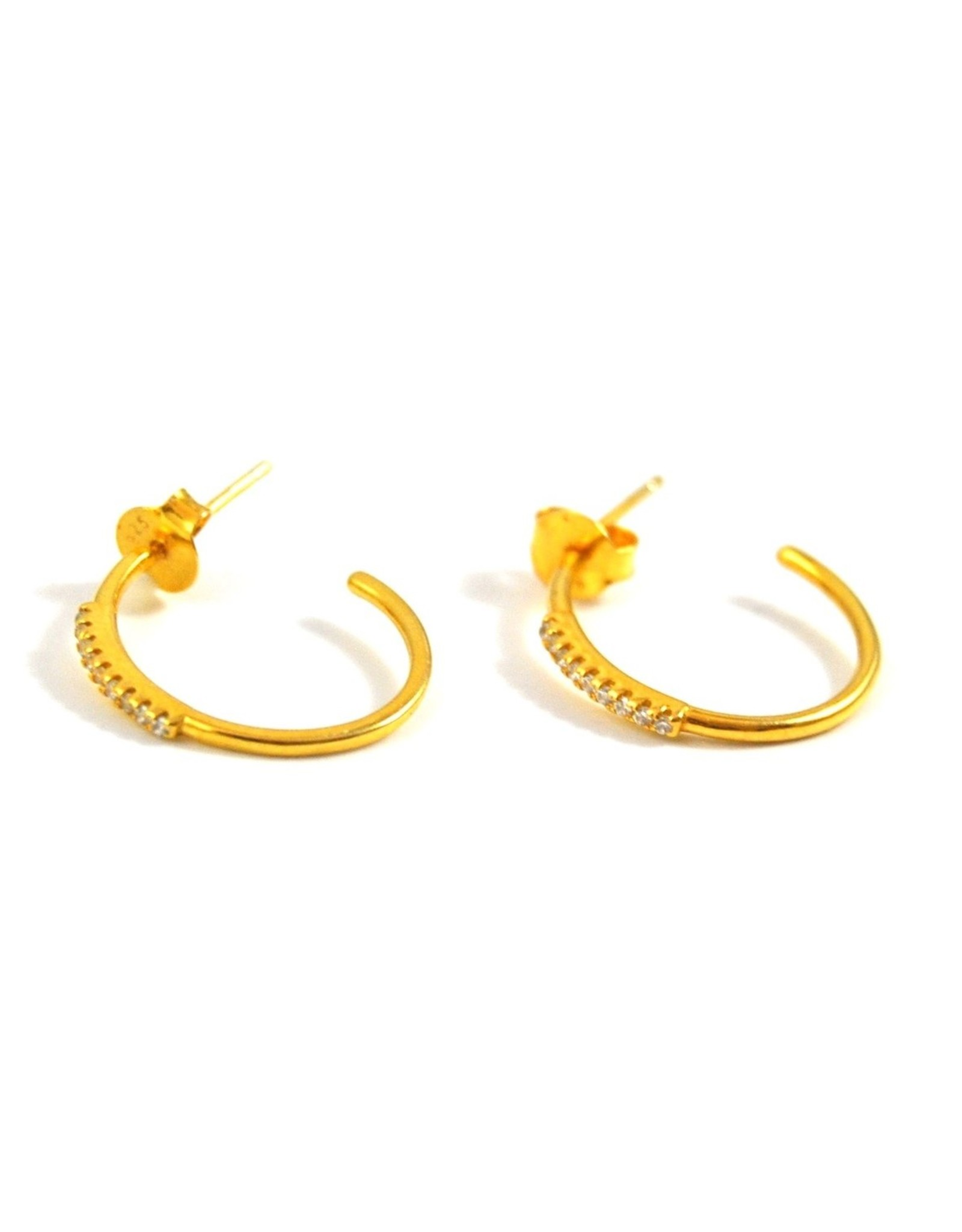 Eff Y Bee f.y.b. - Earrings Coco Huggie Gold