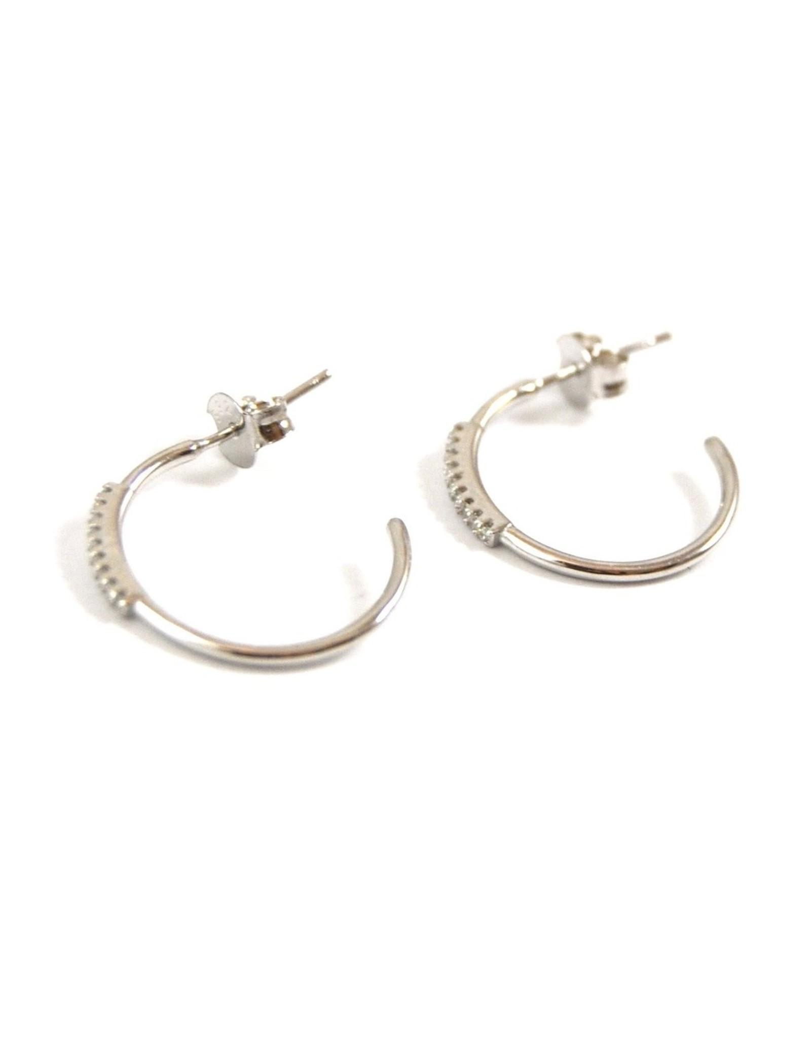 Eff Y Bee f.y.b. - Earrings Coco Huggie Silver