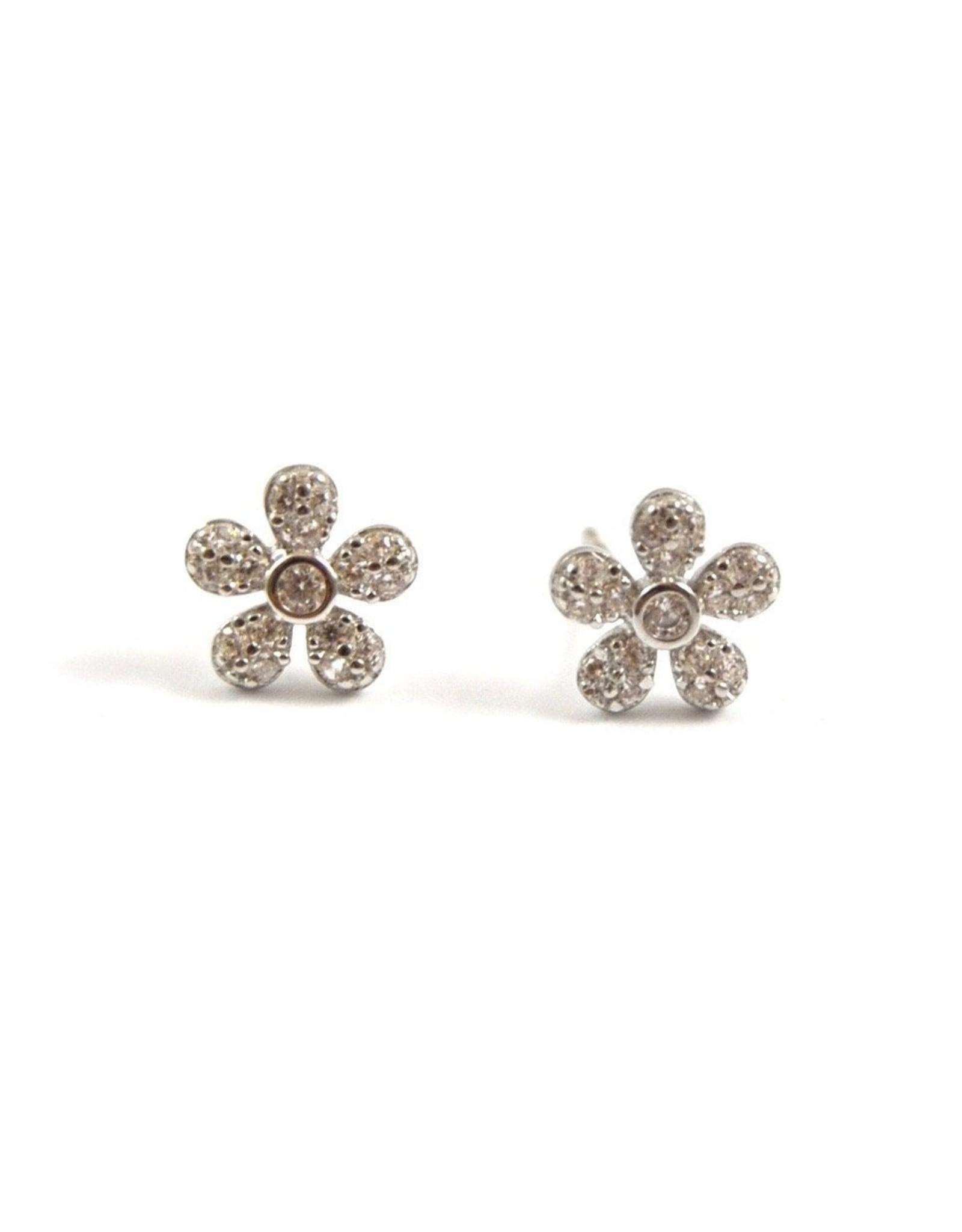 Eff Y Bee f.y.b. - Earrings Flower Studs Silver