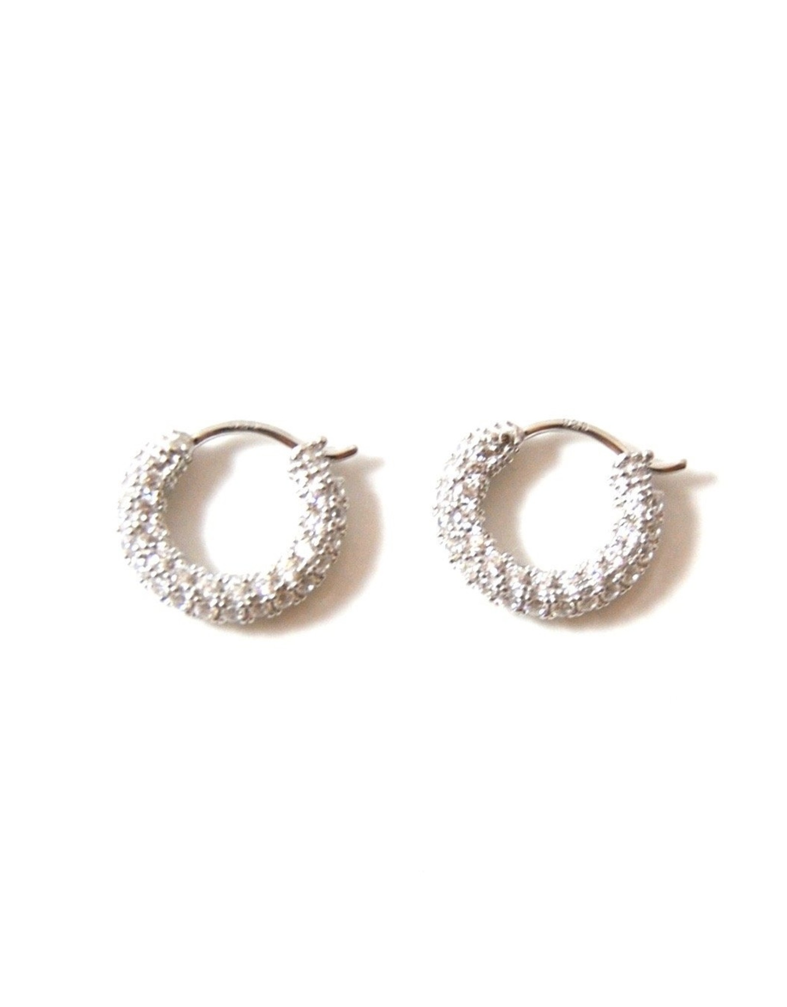 Eff Y Bee f.y.b. - Earrings Geni Cz Hoops Silver