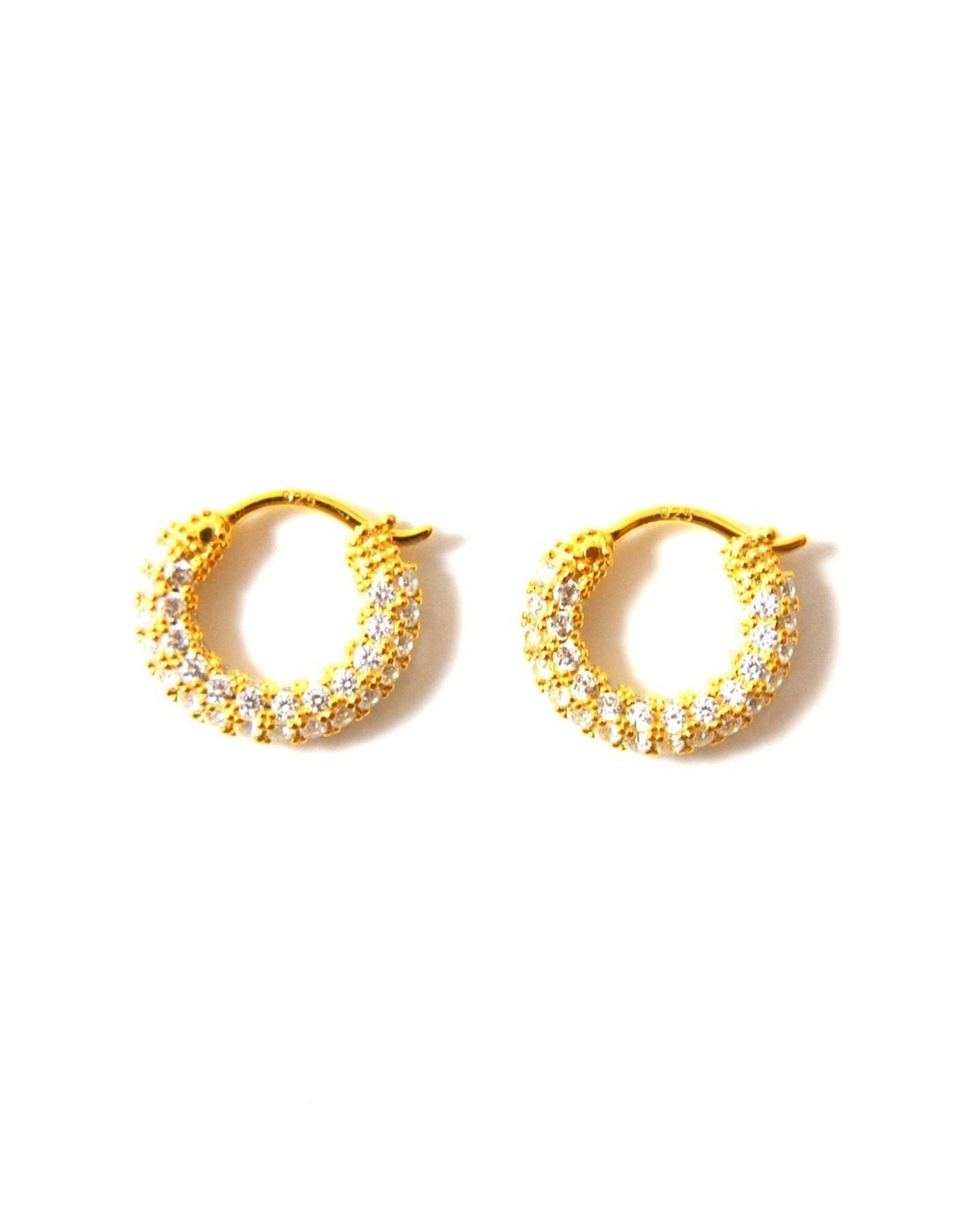 Eff Y Bee f.y.b. - Earrings Geni Cz Hoops Gold