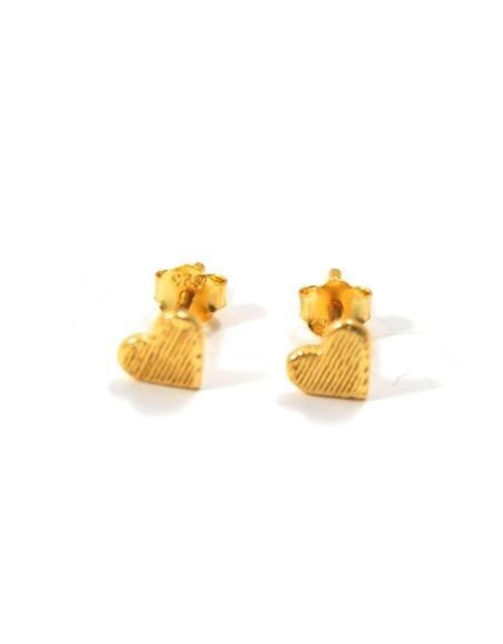 Eff Y Bee f.y.b. - Earrings Heart Studs Gold