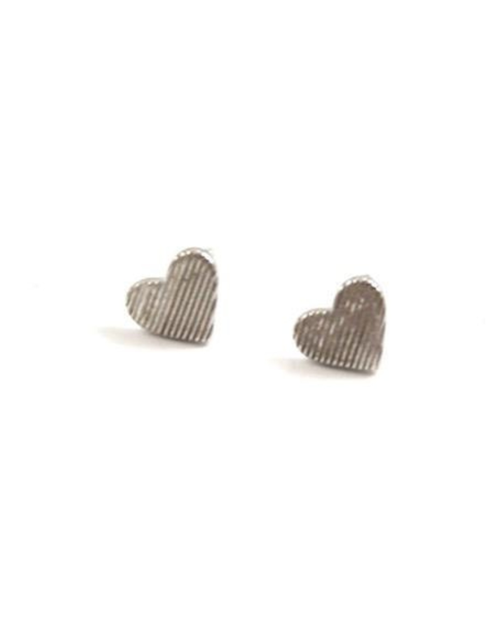 f.y.b. f.y.b. - Earrings Heart Studs Silver