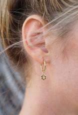 Eff Y Bee f.y.b. - Earrings Kaia Hoop Flower Silver