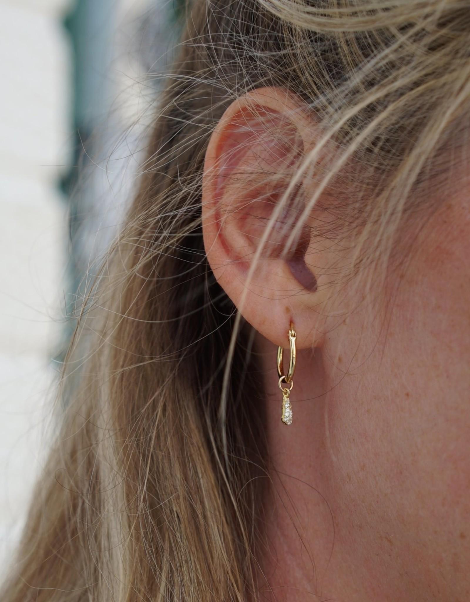 Eff Y Bee f.y.b. - Earrings Kaia Hoop CZ Silver