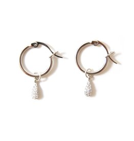 f.y.b. f.y.b. - Earrings Kaia Hoop CZ Silver