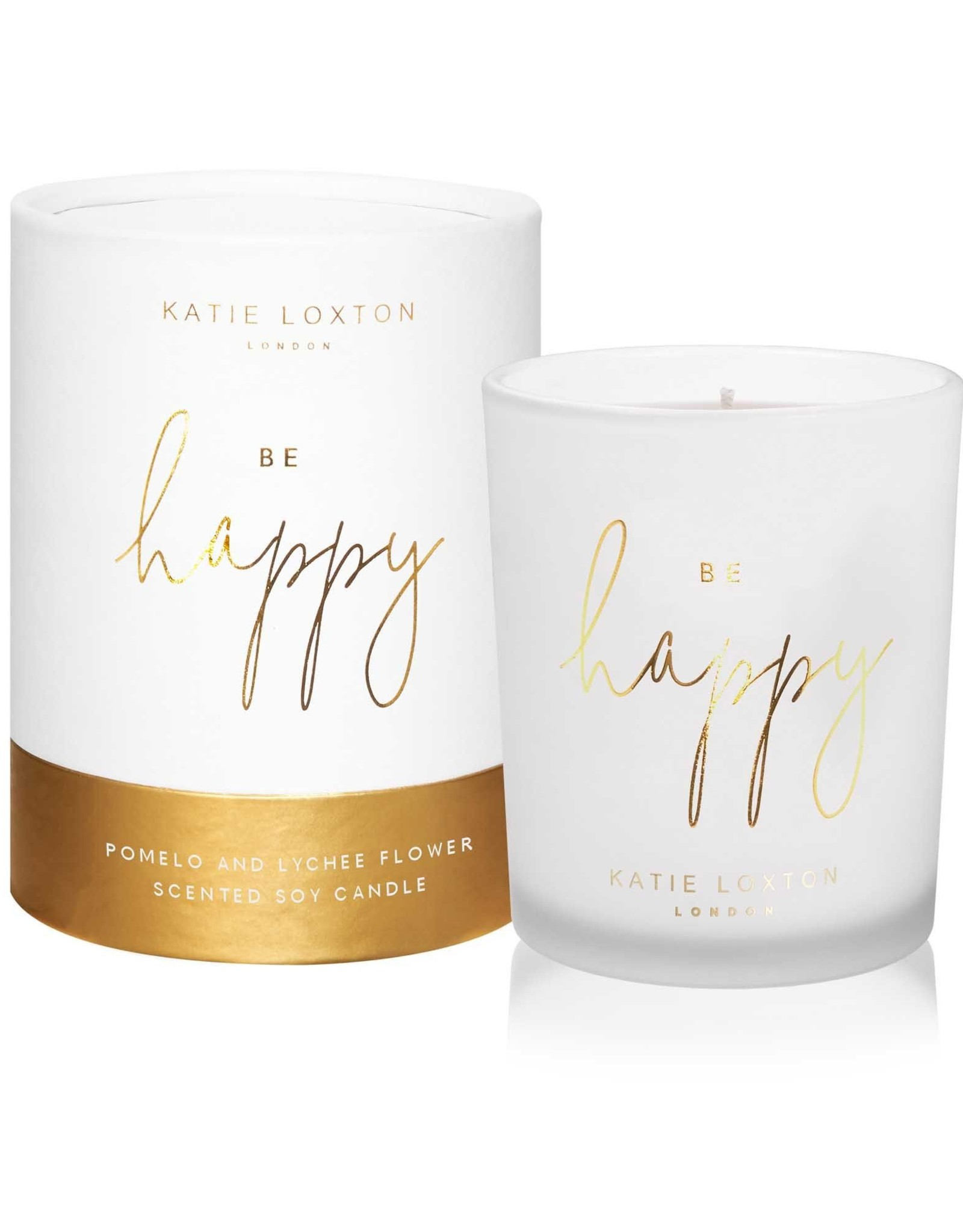 Katie Loxton Katie Loxton - Words To Live By Candle  Be Happy