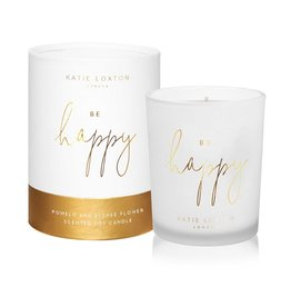 Katie Loxton - Words To Live By Candle  Be Happy