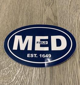 """Euro Decals MED Navy 4"""" x 6"""" Sticker"""