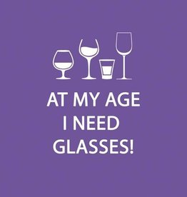 Paperproducts Design PPD - Cocktail Napkins At My Age I Need Glasses!