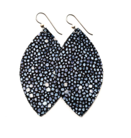 Keva - Earings Blue Speckled