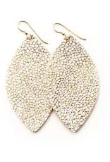Keva - Earrings White and Gold Speckled