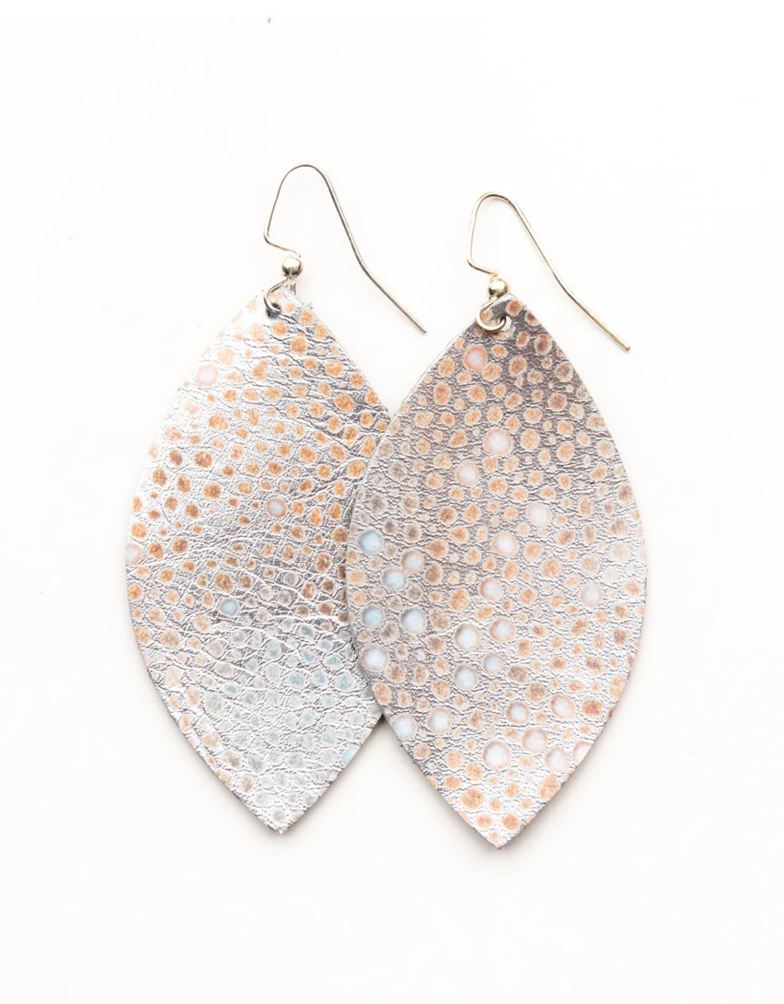 Keva - Earings Silver Metallic Speckled