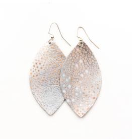 Keva - Earings Silver Metallic Speckled
