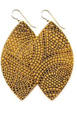 Keva - Earrings Mosaic Butterscotch and Bronze