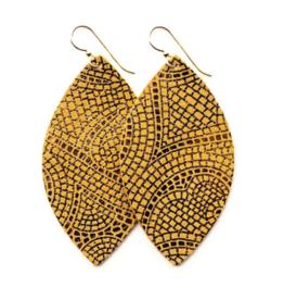 Keva - Earrings Mosaic Butterscotch and Bronze