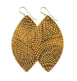 Keva Keva - Earrings Mosaic Butterscotch and Bronze