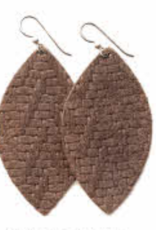 Keva - Earings Chevron Brown