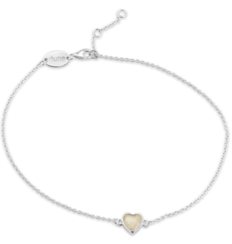Dune Jewelry - Delicate Dest Heart Anklet Cape Cod
