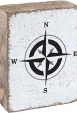 Rustic Marlin Rustic Marlin - Wood Block Compass