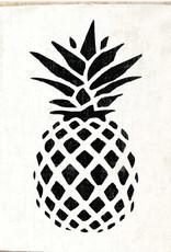 Rustic Marlin Rustic Marlin - Wood Block Pineapple - Black