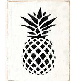 Rustic Marlin Rustic Marlin - Symbol Blocks Pineapple - Black