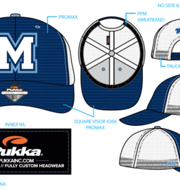 Pukka - Medfield Hats Trucker Style - M on front - Medfield on back
