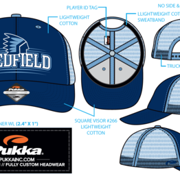 Pukka - Medfield Hats Trucker Style - Medfield with Warrior on front