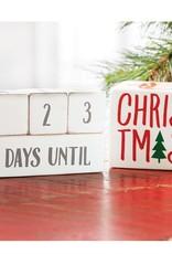 Mud Pie Mud Pie - Holiday Countdown Block Set