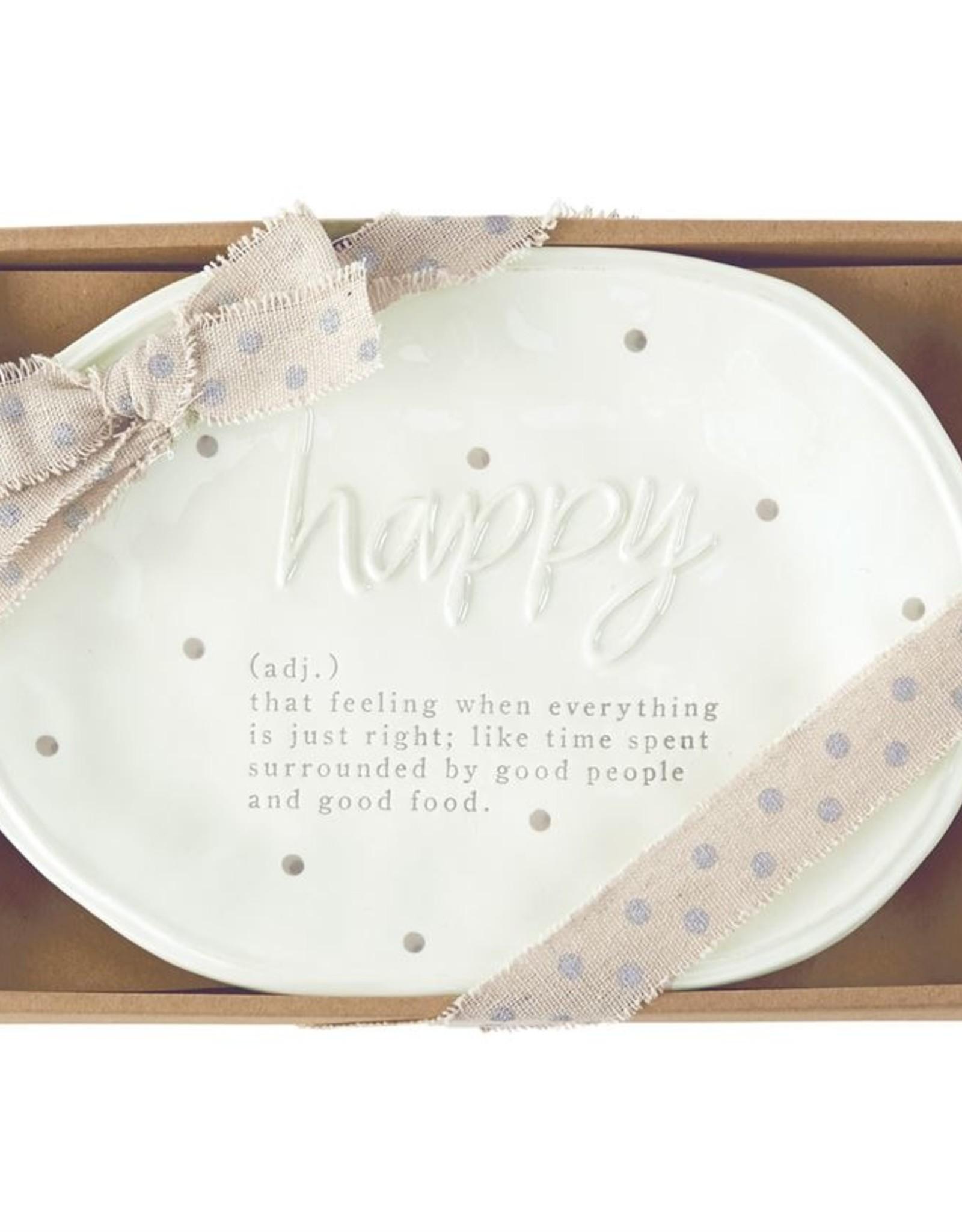 Mud Pie Mud Pie - Happy Definition Plate