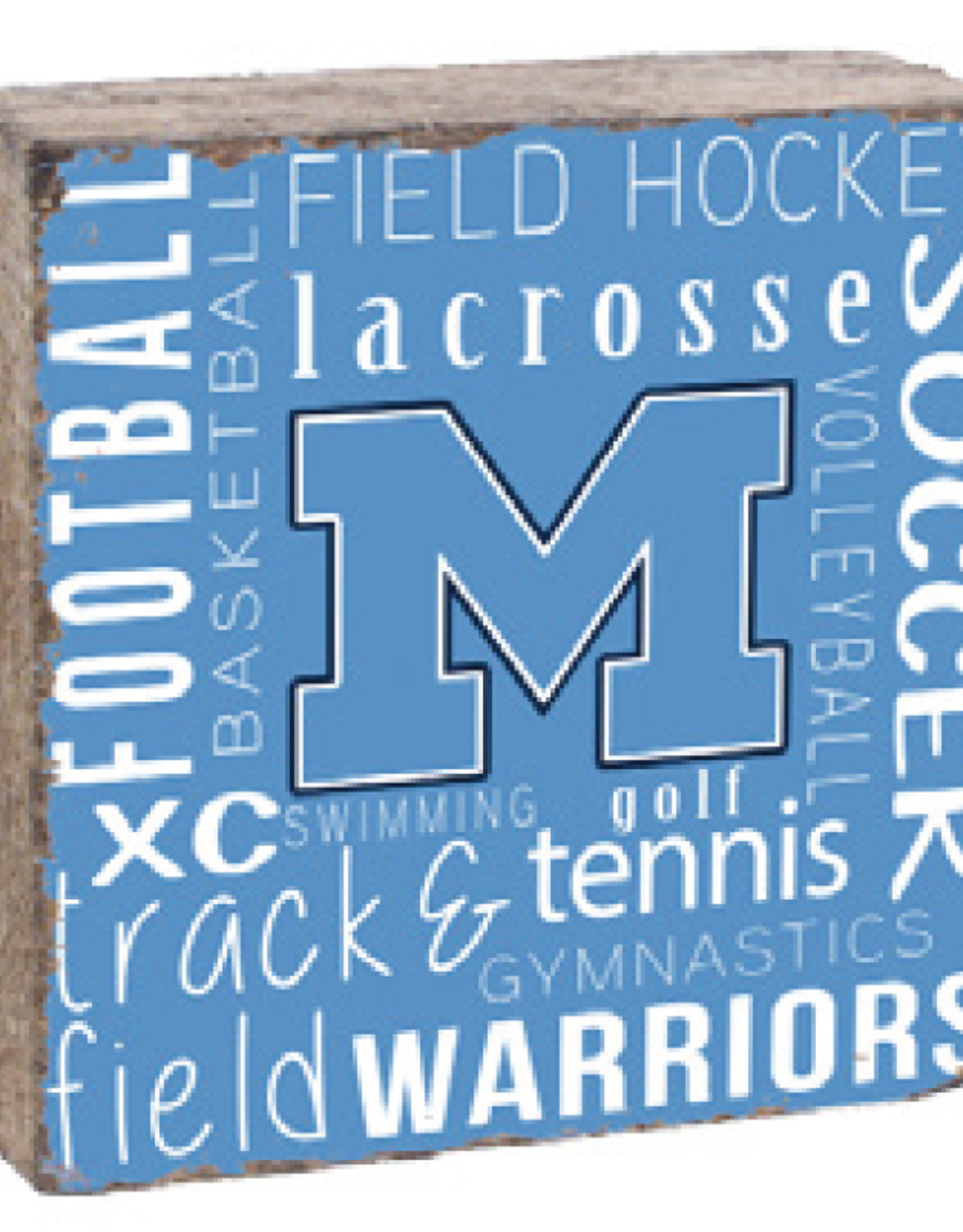 "Rustic Marlin Rustic Marlin - 6"" x 6"" Town Blocks Medfield Sports"
