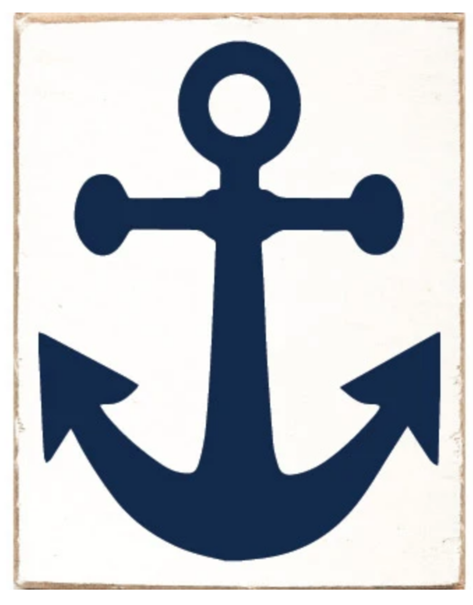 Rustic Marlin Rustic Marlin - Wood Block Anchor - Blue