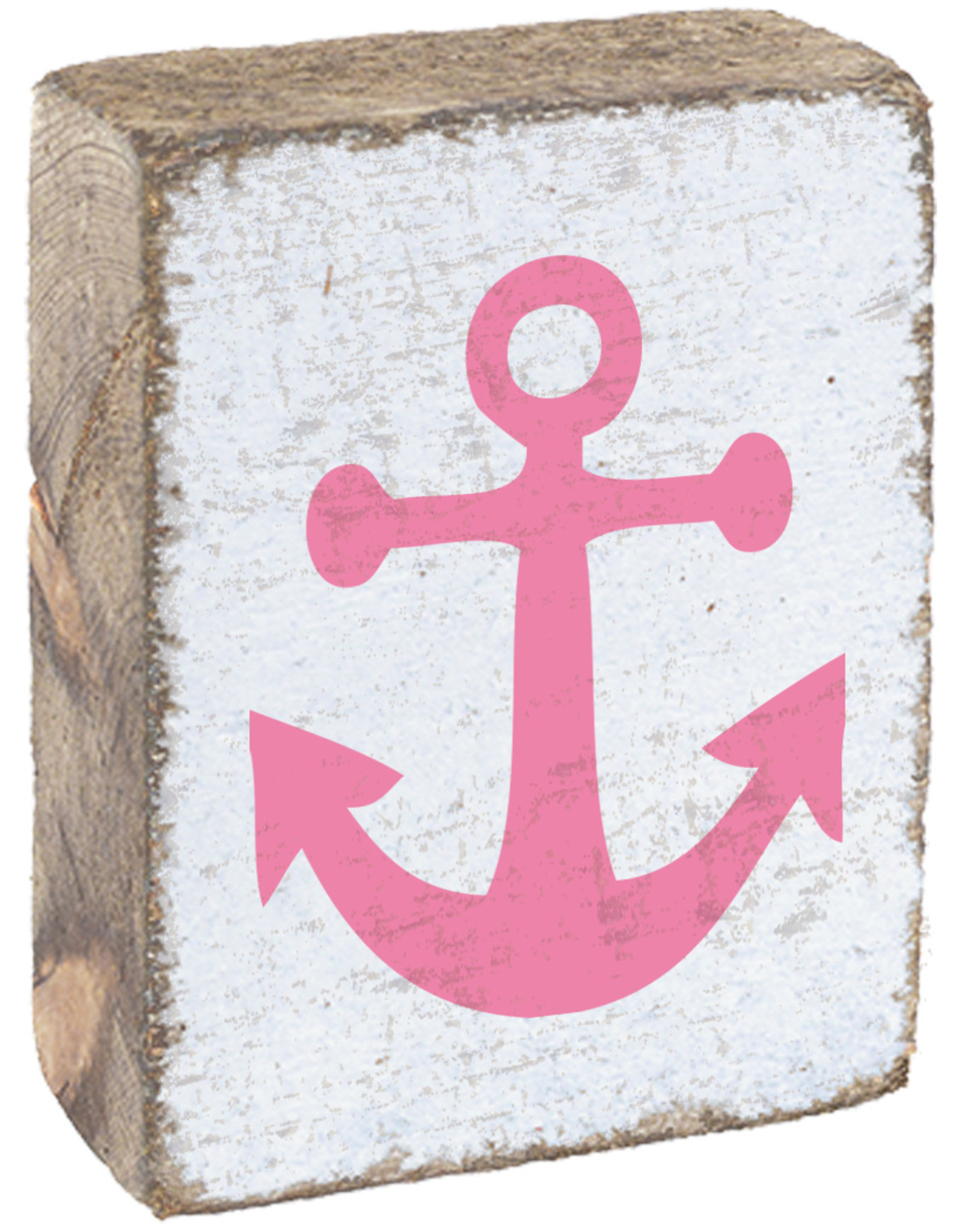 Rustic Marlin Rustic Marlin - Symbol Blocks Anchor - Pink