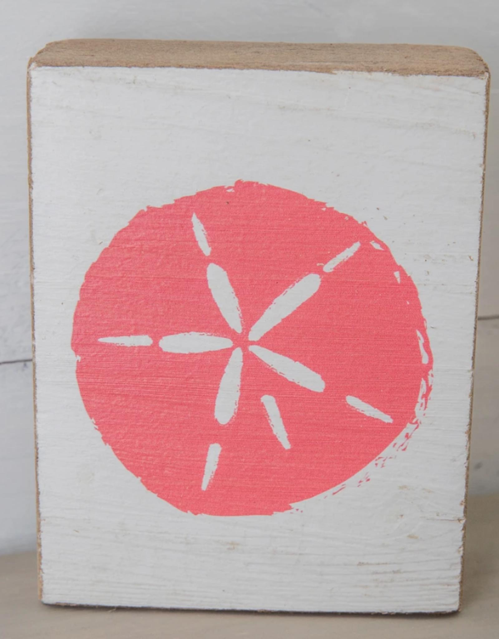 Rustic Marlin Rustic Marlin - Symbol Blocks Sand Dollar - Coral