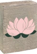 Rustic Marlin Rustic Marlin - Symbol Blocks Lotus Flower