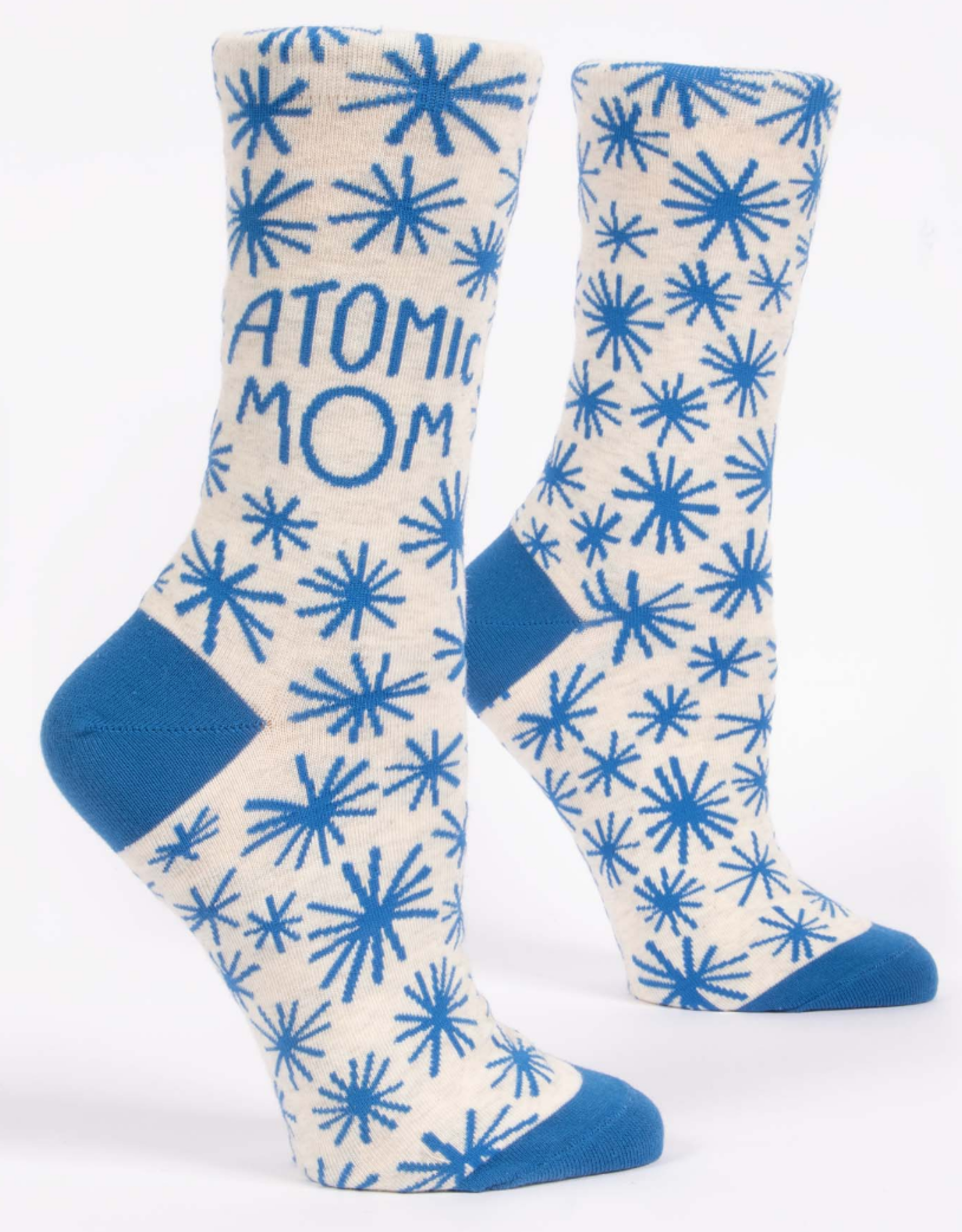 Blue Q Blue Q - Crew Socks Atomic Mom