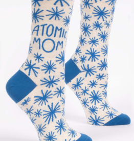 Blue Q Blue Q - Crew Socks Atomic Mom