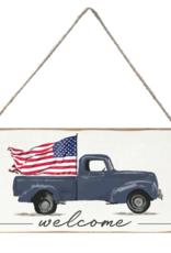 Rustic Marlin Rustic Marlin Mini Plank Flag Truck