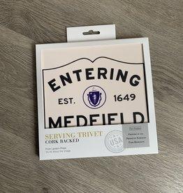 Lantern Press - Entering Medfield Trivet