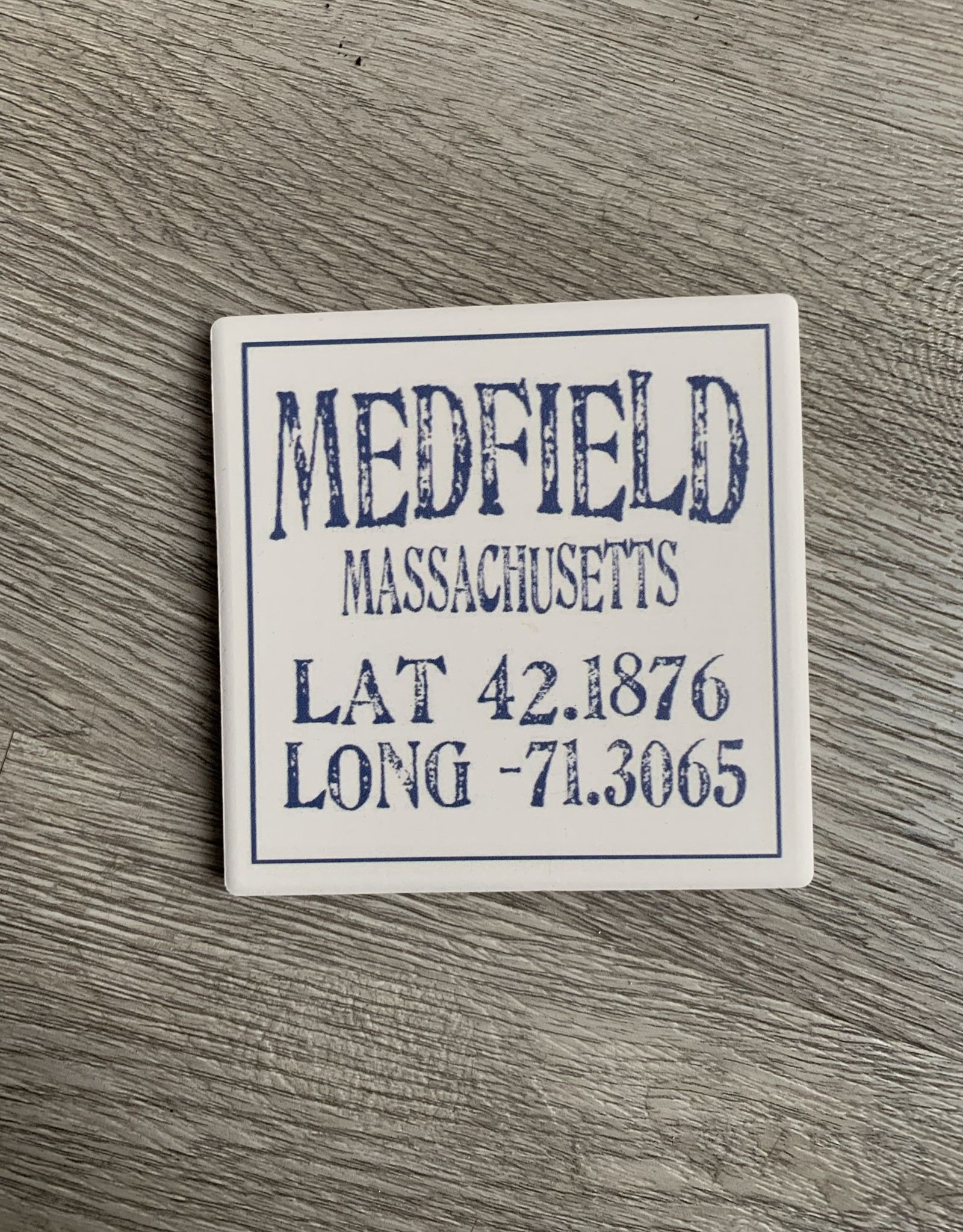 Paint the Town Paint the Town - Medfield Lat/Long Coaster