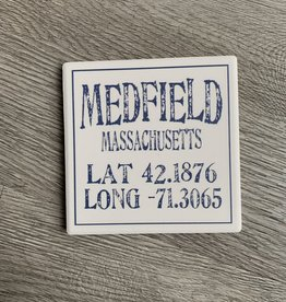 Paint the Town - Medfield Lat/Long Coaster