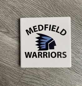 Paint The Town - Medfield Warriors Coaster