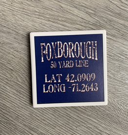 Paint the Town - Foxborough 50 Yard Line Lat/Long Coaster