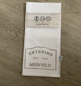 Marshes, Fields & Hills - Entering Medfield Tea Towel
