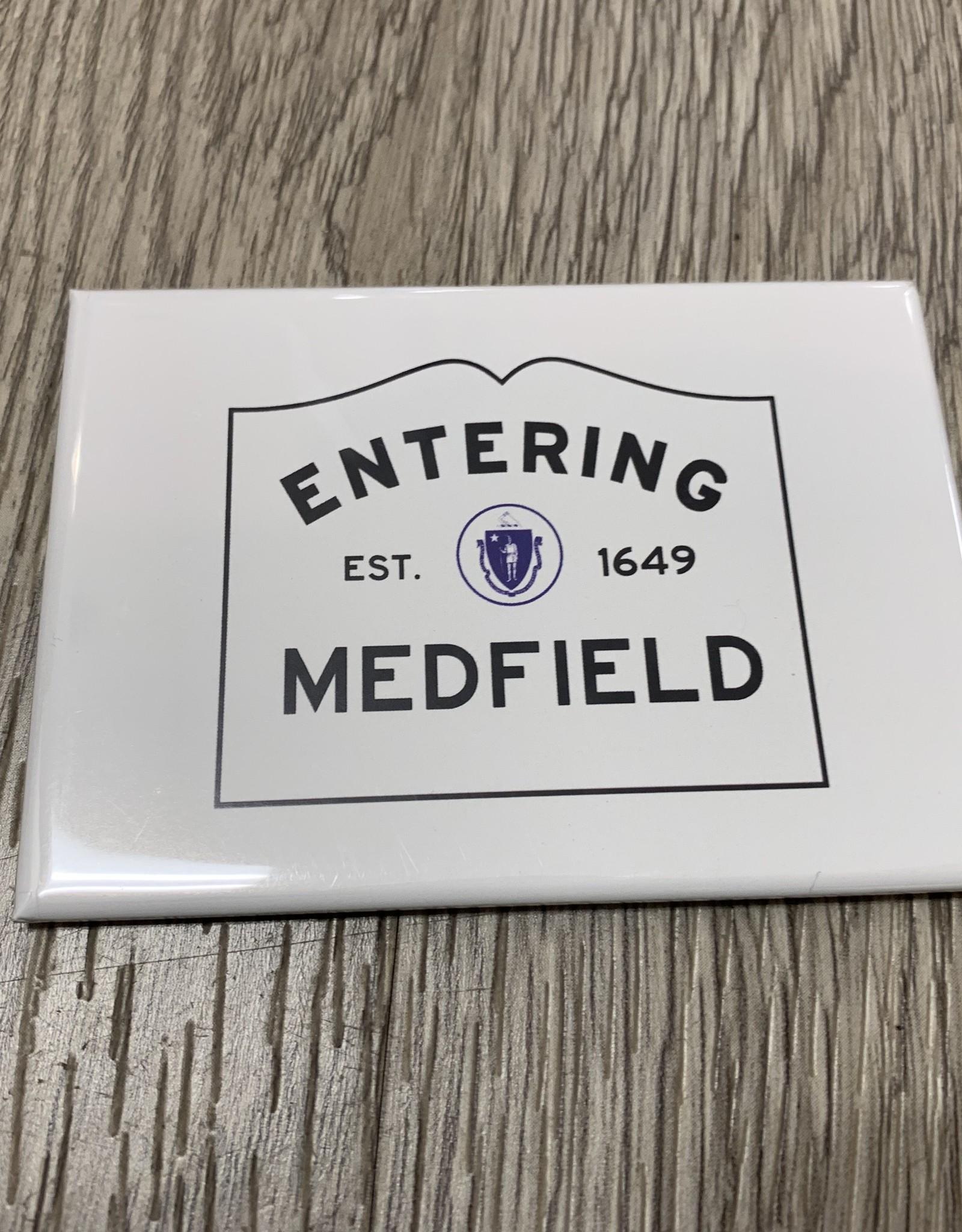 Lantern Press - Entering Medfield 2.5 x 3.5 Magnet