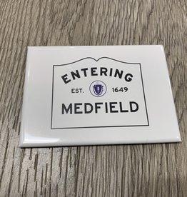 Lantern Press Lantern Press - Entering Medfield 2.5 x 3.5 Magnet
