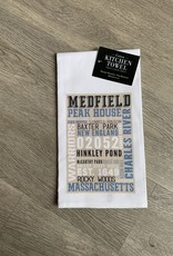 Lantern Press - Medfield Typography Kitchen Towel