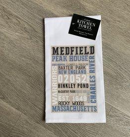 Lantern Press - Medfield Typography Kitchen Towel